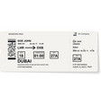 grey template of boarding pass ticket vector image vector image