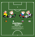 Group H 2014 Football Tournament vector image