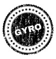 grunge textured gyro stamp seal vector image