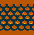 halloween seamless pattern with orange pumpkins vector image