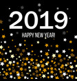 happy new year 2019 greeting card vector image