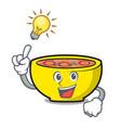 have an idea soup union mascot cartoon vector image
