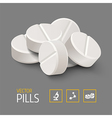 Heap pills vector image