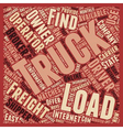 How To Find Truck Loads for Owner Operators text vector image vector image
