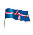 iceland republic flag vector image