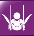 Icon for gymnastics with rings vector image vector image