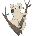 Koala bear on a tree Cartoon vector image vector image
