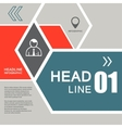 line hexagon infographic Template for vector image vector image