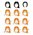 Make up for red-haired woman vector image vector image