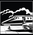 modern business jet vector image vector image
