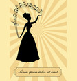 music theme vintage design victorian lady vector image vector image