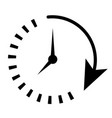 passage of time vector image vector image