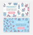 pregnance banner poster card ad horizontal set vector image vector image