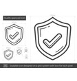 quality approved line icon vector image vector image