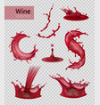 red wine spray collection vector image vector image