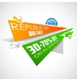 Republic Day of India sale banner with Indian flag vector image vector image