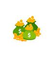 sack money icon cash bag icon money in the vector image