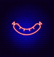 sausage neon sign vector image