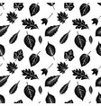 seamless pattern with black silhouettes of autumn vector image