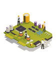 semiconductor electronic components isometric vector image vector image