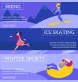 set of winter sports banners vector image vector image
