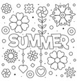 summer coloring page sun vector image vector image
