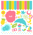 Summer fresh design elements isolated on white vector image vector image