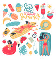 summer party set elements clip art collection vector image vector image