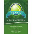 Tennis tournament background or poster with tennis vector image vector image