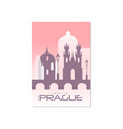 trip to prague travel poster template touristic vector image