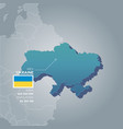 ukraine information map vector image vector image