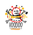 voodoo african and american magic logo head with vector image vector image