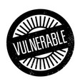 vulnerable rubber stamp vector image vector image