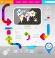 web design template - technology infographics vector image