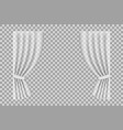 white curtain cloth curtain with fold isolated vector image