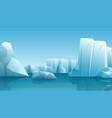 winter nature winter arctic vector image vector image