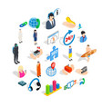 workforce icons set isometric style vector image vector image