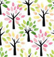 Seamless pattern with watercolor trees vector image