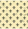 fleur-de-lis seamless pattern ols style template vector image