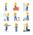 builder cartoon character constructor vector image
