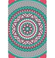indian Mandala background vector image