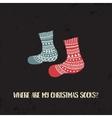 xmas socks4 vector image