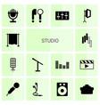 14 studio icons vector image vector image