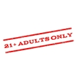 21 Plus Adults Only Watermark Stamp vector image vector image