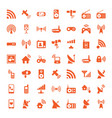 49 wireless icons vector image vector image