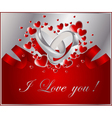 abstract frame with heart vector image vector image