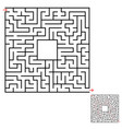 abstract square isolated labyrinth black color on vector image vector image