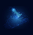 abstract technology business concept hand digital vector image