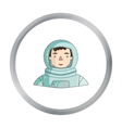 Astronaut icon in cartoon style isolated on white vector image