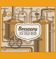 banner with the brewery vector image vector image